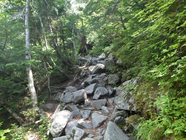 滝谷 登山道
