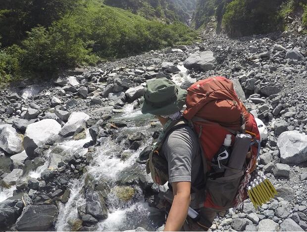 槍ヶ岳登山 滝谷出会
