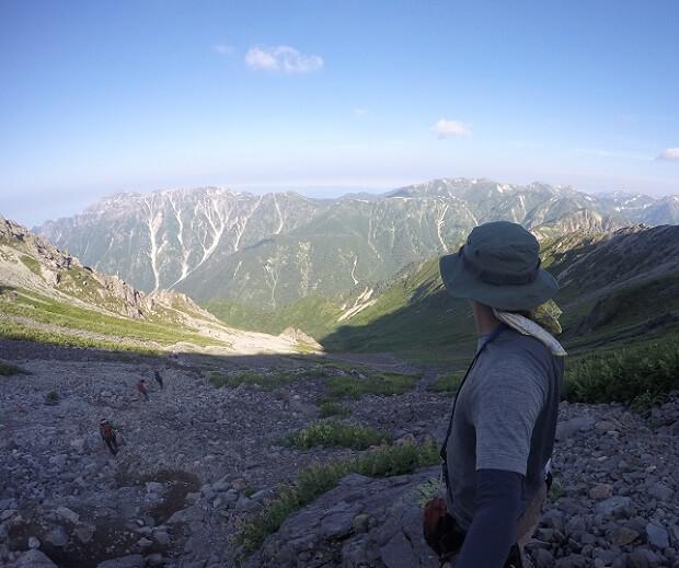 飛騨乗越から見る笠ヶ岳