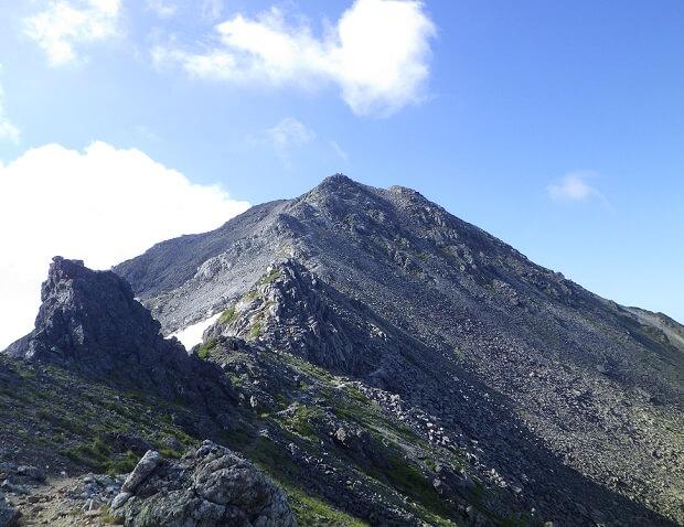 飛騨乗越 南岳に続く稜線