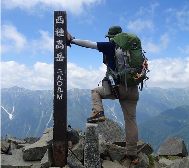 西穂高岳 登山