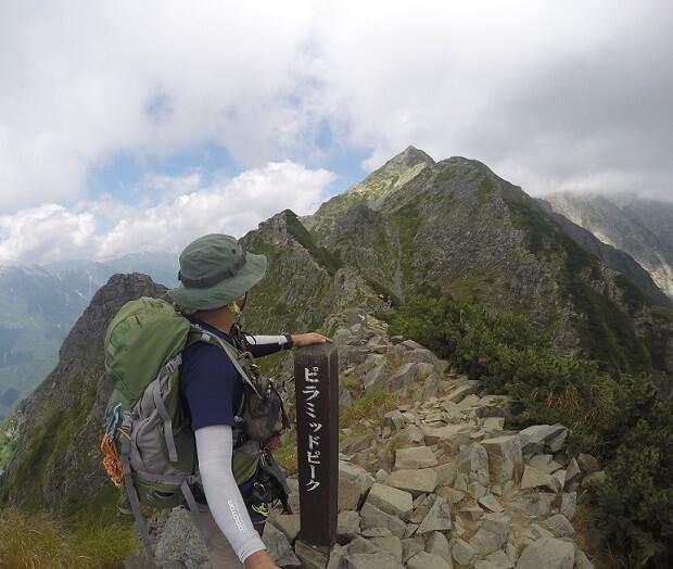 西穂高岳ピラミッドピーク