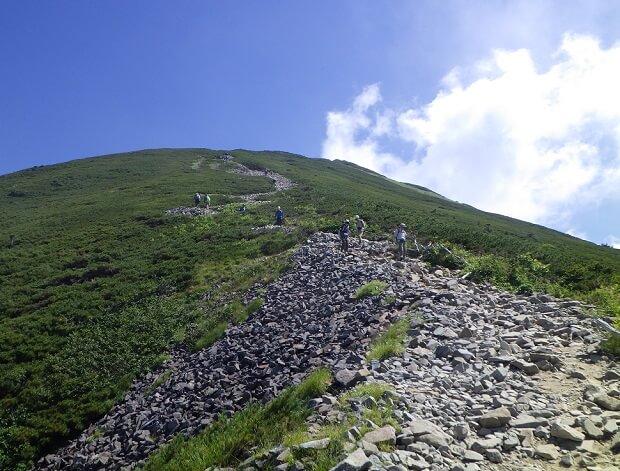 丸山からの稜線