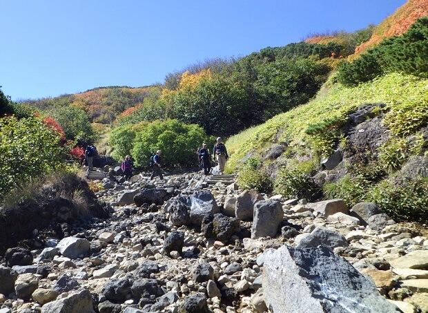 御嶽山 8合目 登山道