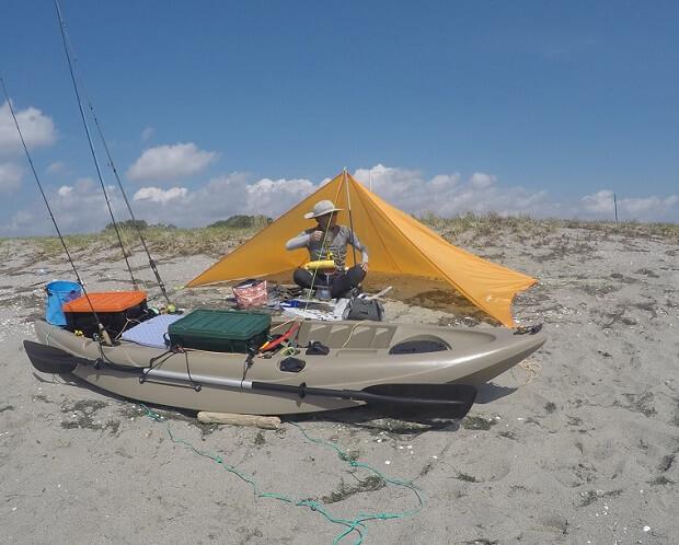 弁天島 いかり瀬でデイキャンプ