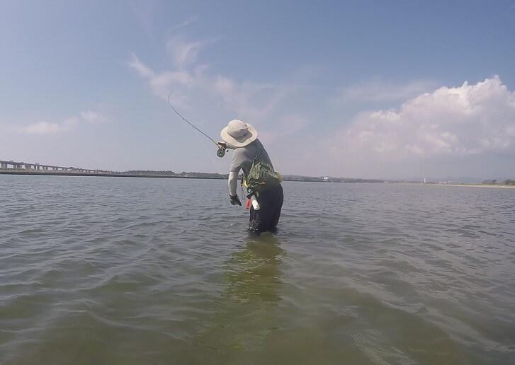 浜名湖でフライフィッシング