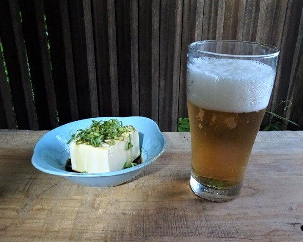 冷奴 ビール