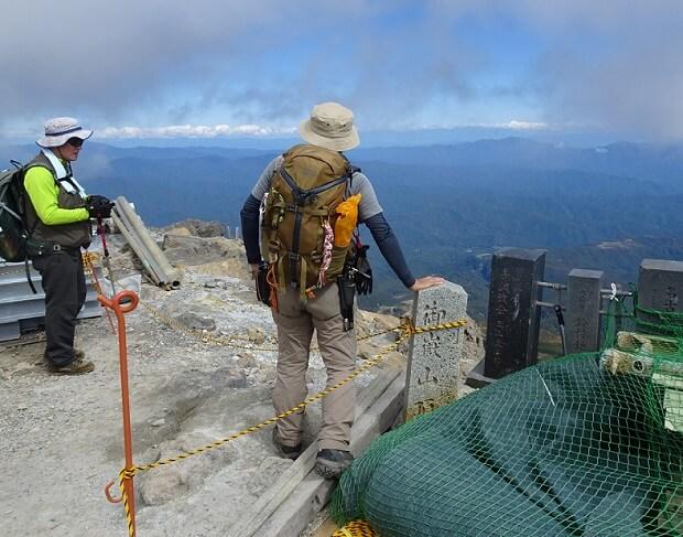 御嶽山 剣が峰からの眺望
