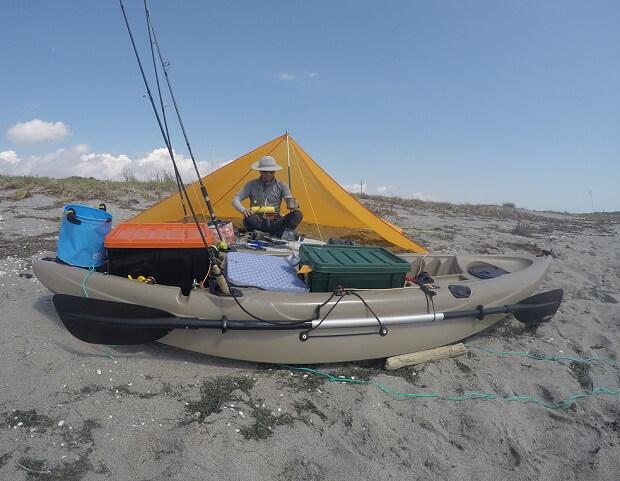 格安ペンタタープで釣りキャンプ