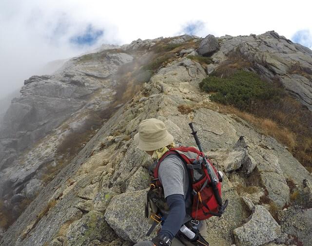 甲斐駒ヶ岳 直登 稜線