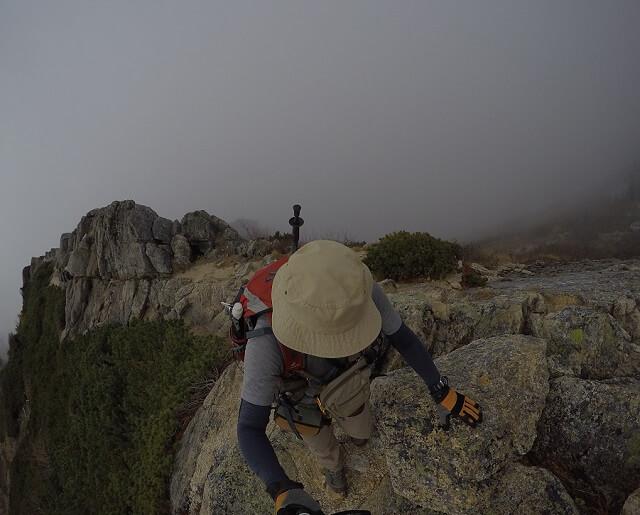 甲斐駒ヶ岳 直登コース 稜線歩き1