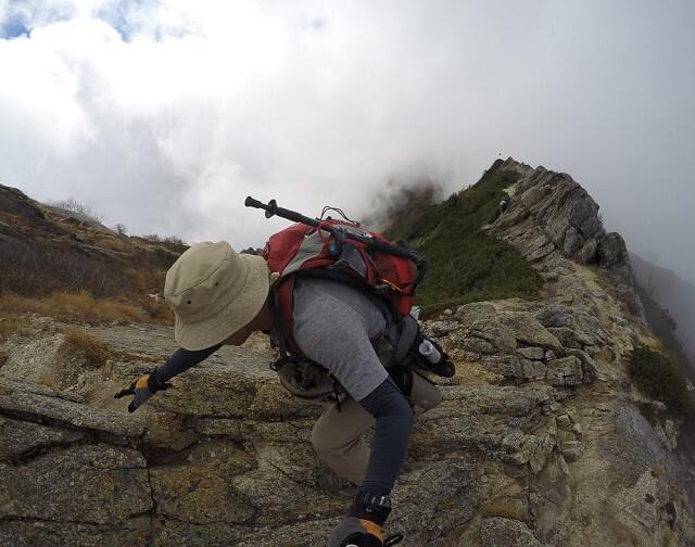 甲斐駒ヶ岳 直登コース 稜線歩き2