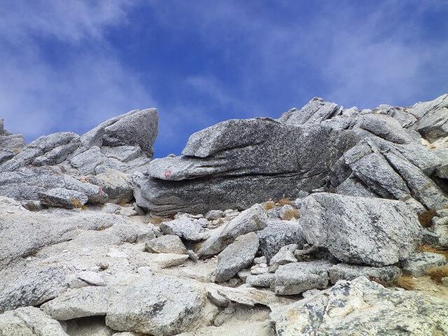 甲斐駒ヶ岳 直登コース 頂上付近