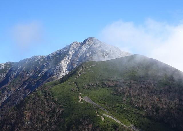 双児山から見た甲斐駒ヶ岳