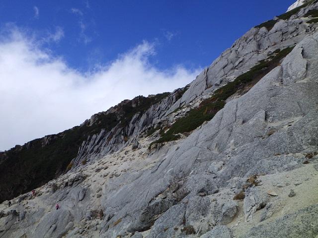 甲斐駒ヶ岳から下山