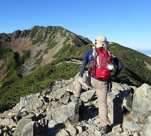 小仙丈ヶ岳から見る仙丈ヶ岳