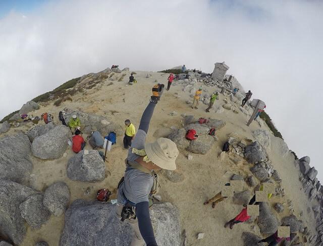 甲斐駒ヶ岳頂上 一番高い場所