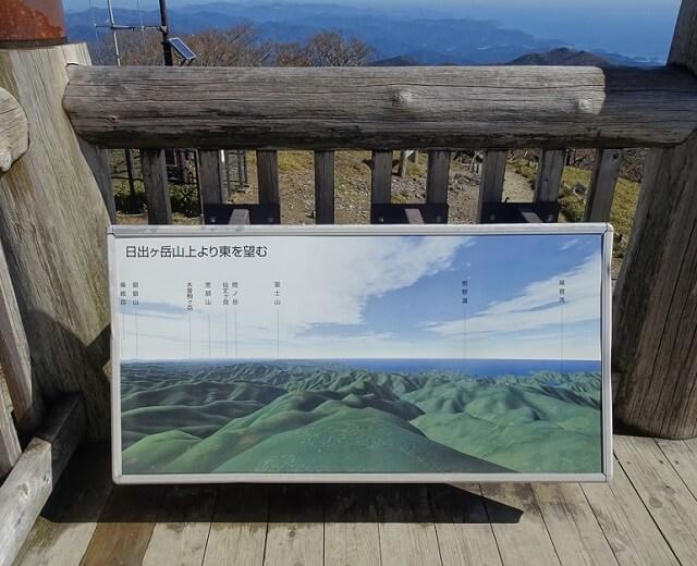 日出ヶ岳 展望台から見える風景