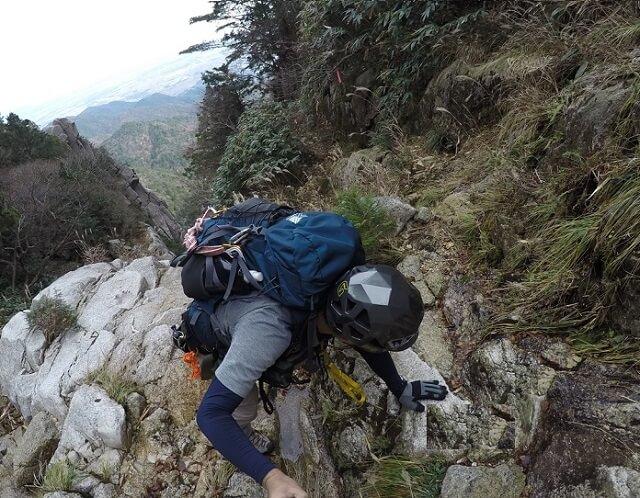 藤内沢を登るflyder