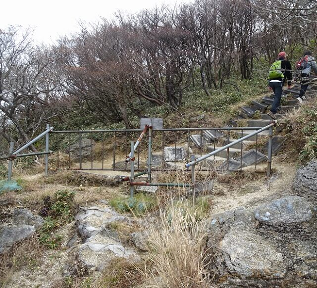 中登山道 9合目
