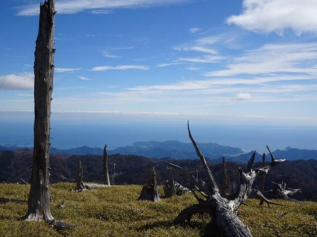 大台ヶ原 正木峠から見える景色
