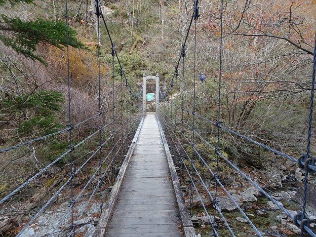 大台ヶ原 シオカラ谷の吊り橋