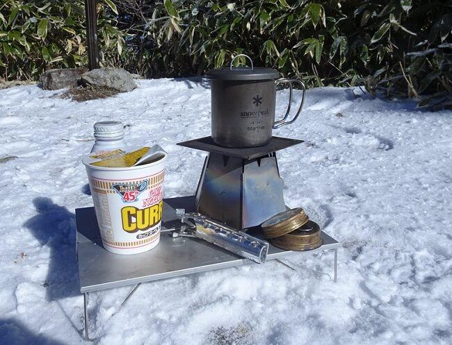 恵那山 山頂で昼食