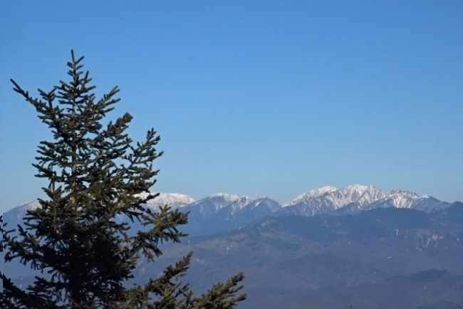 恵那山から見える日本アルプス