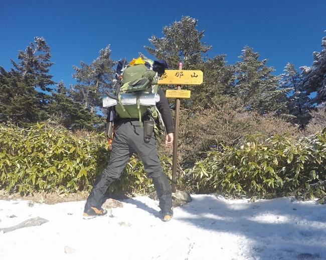 TS DRYシャツを冬山登山で使用