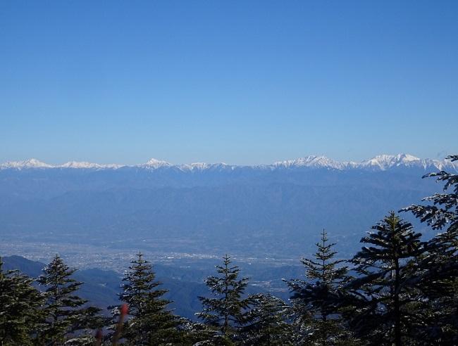 恵那山から見る南アルプス