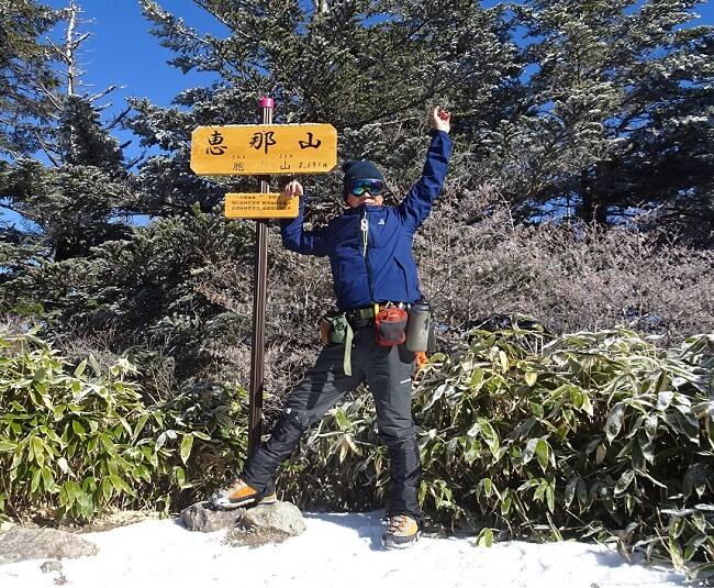 おたふくのタイツ冬山登山で使ってみた