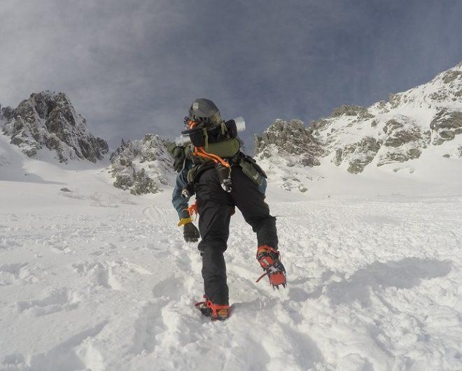 千畳敷カール 八丁坂を登るflyder