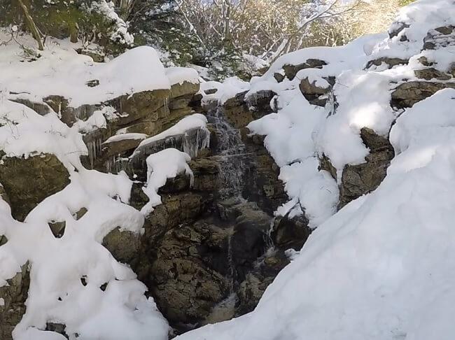 御在所岳本谷の滝を登る
