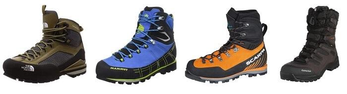 登山靴 冬の伊吹山