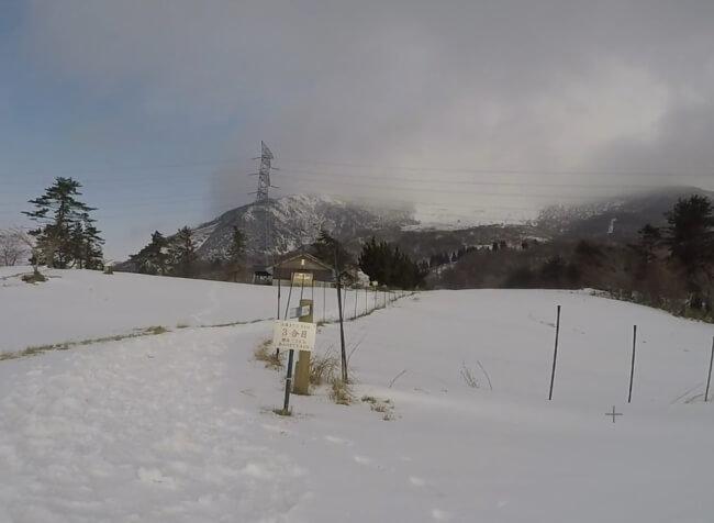 伊吹山三合目 積雪状況