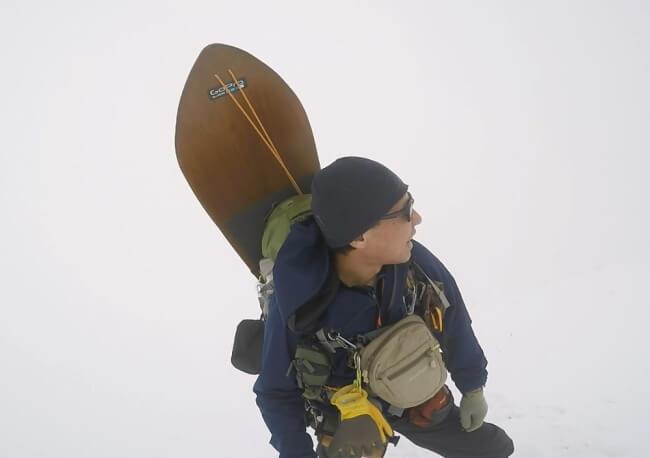 冬の伊吹山登山 7合目