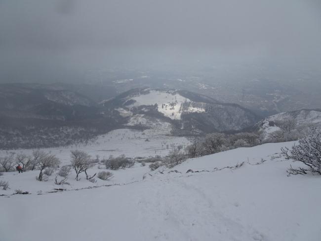 冬の伊吹山登山 7合目からの景色