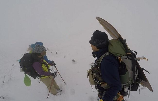 厳冬期の伊吹山登山