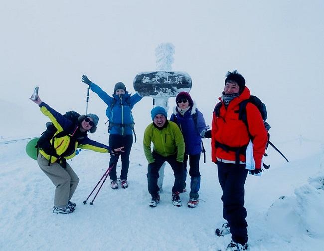 冬の伊吹山登山 山頂で出会った方々