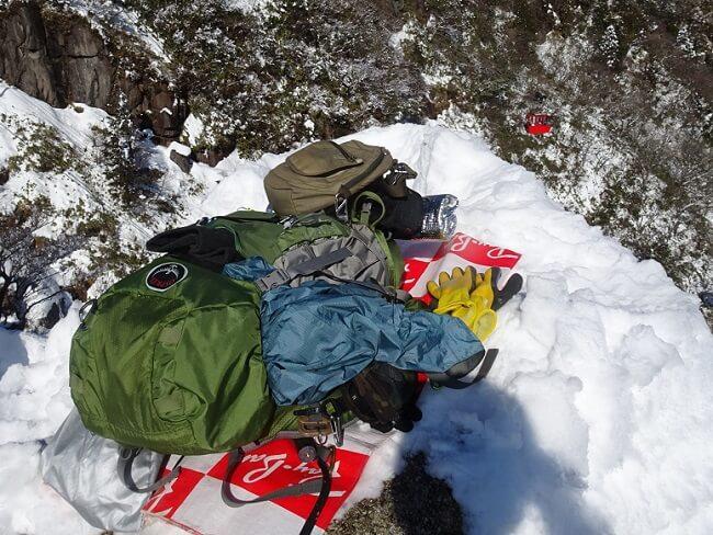 1月積雪期の御在所岳登山の服装・装備