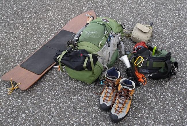 冬の伊吹山登山 装備