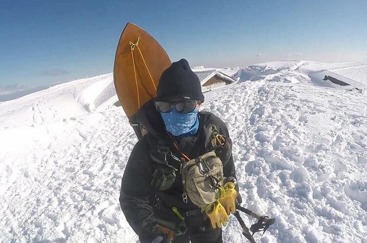 冬の伊吹山登山 服装