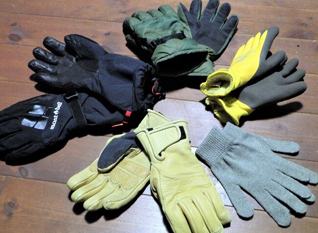 登山グローブ冬用の種類