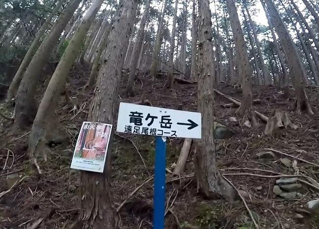 竜ヶ岳 遠足尾根登山口