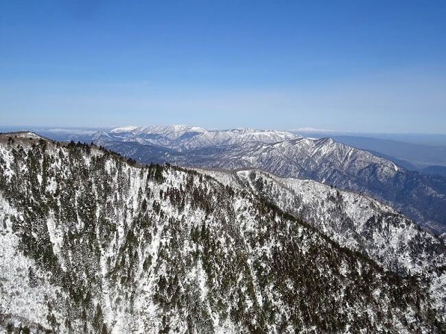 御在所岳9合目からの眺め