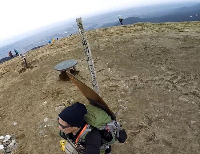竜ヶ岳山頂の様子