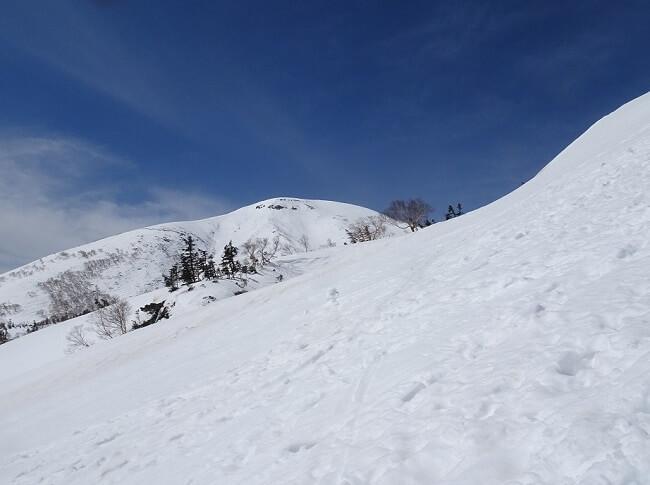 乗鞍岳ツアーコースの終点