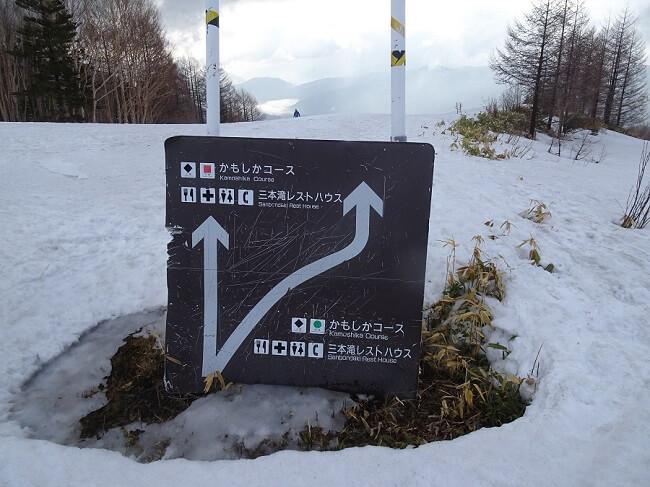 乗鞍岳ツアーコースの開始点