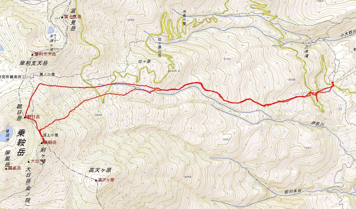 乗鞍岳登山ルート