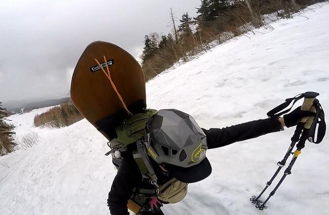 乗鞍岳ツアーコースを登る